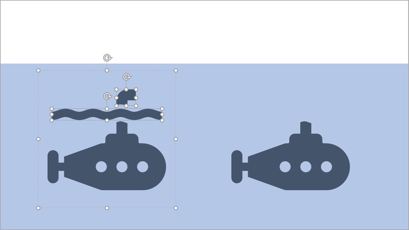 U-Boot-Icon in Form konvertieren und Teile des Icons löschen