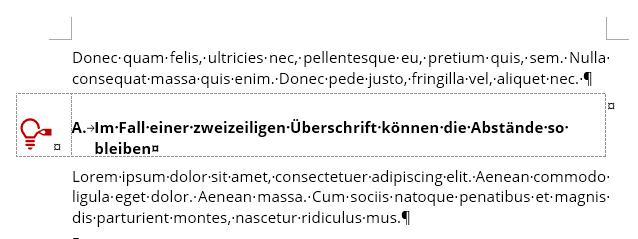 Ausrichtung des Icons an Oberlänge der Überschrift
