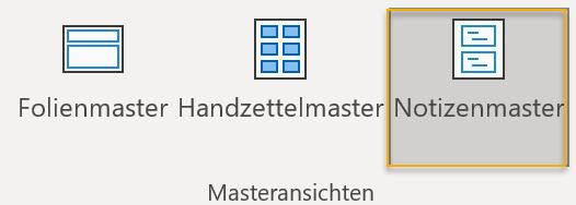 Screenshot: Masteransichten auf der Registerkarte Ansicht in PowerPoint